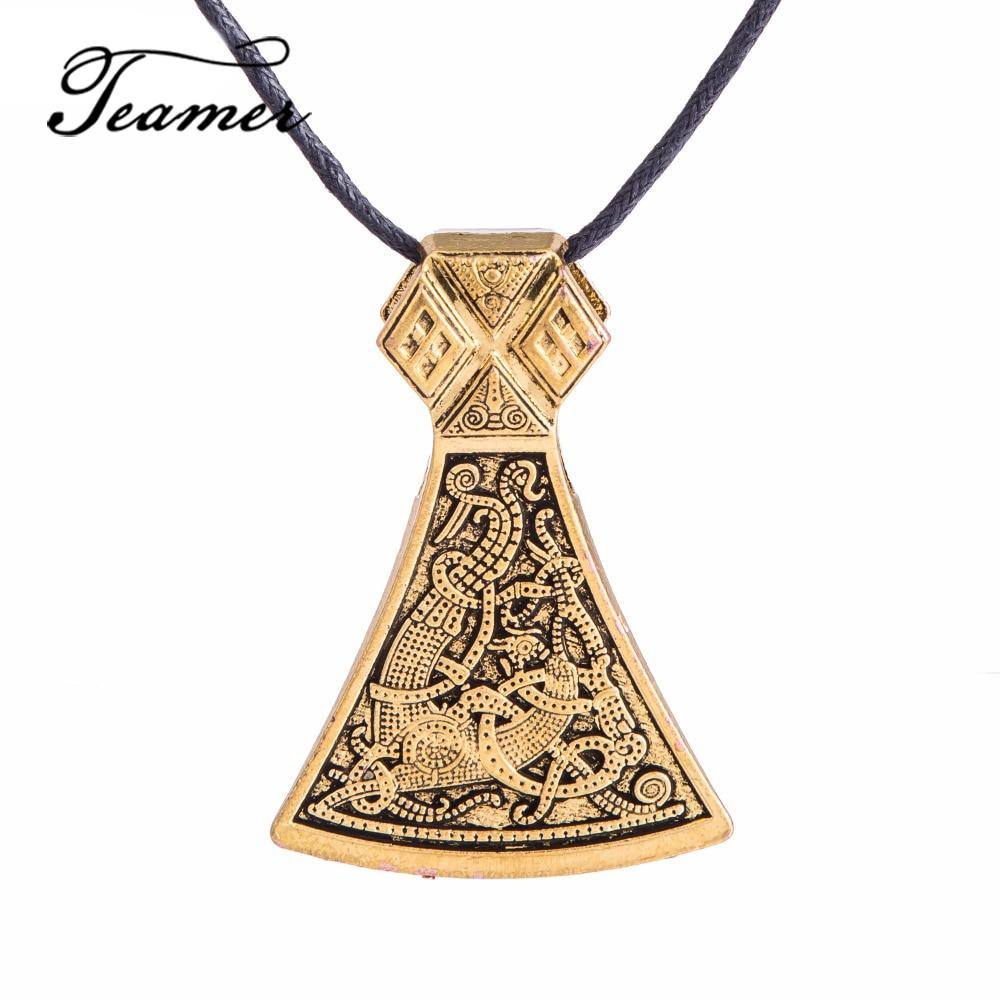 Teamer Thor Hammer Viking Ax Pendant Perun- ի սլավոնական - Նորաձև զարդեր - Լուսանկար 2