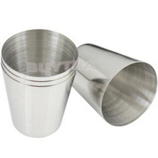 35ml 1oz Stainless Steel Cups Cover Mug Drinking Coffee Beer Camping Outdoor Travel Tumble 3.7cm x 2.5cm x 4.3cm Кубок