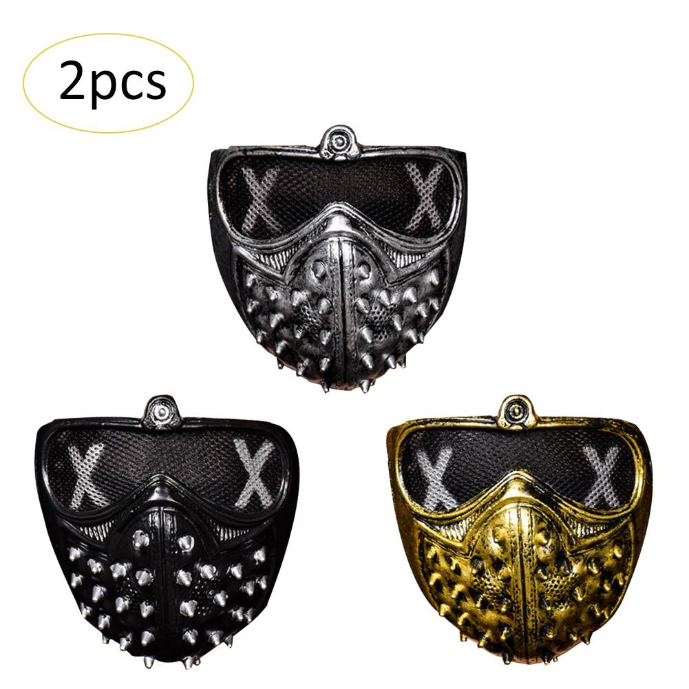 halloween punk devil cos anime stage mask ghost steps street rivet death masks watch dogs cosplay halloween masks cosplay in party masks from home garden