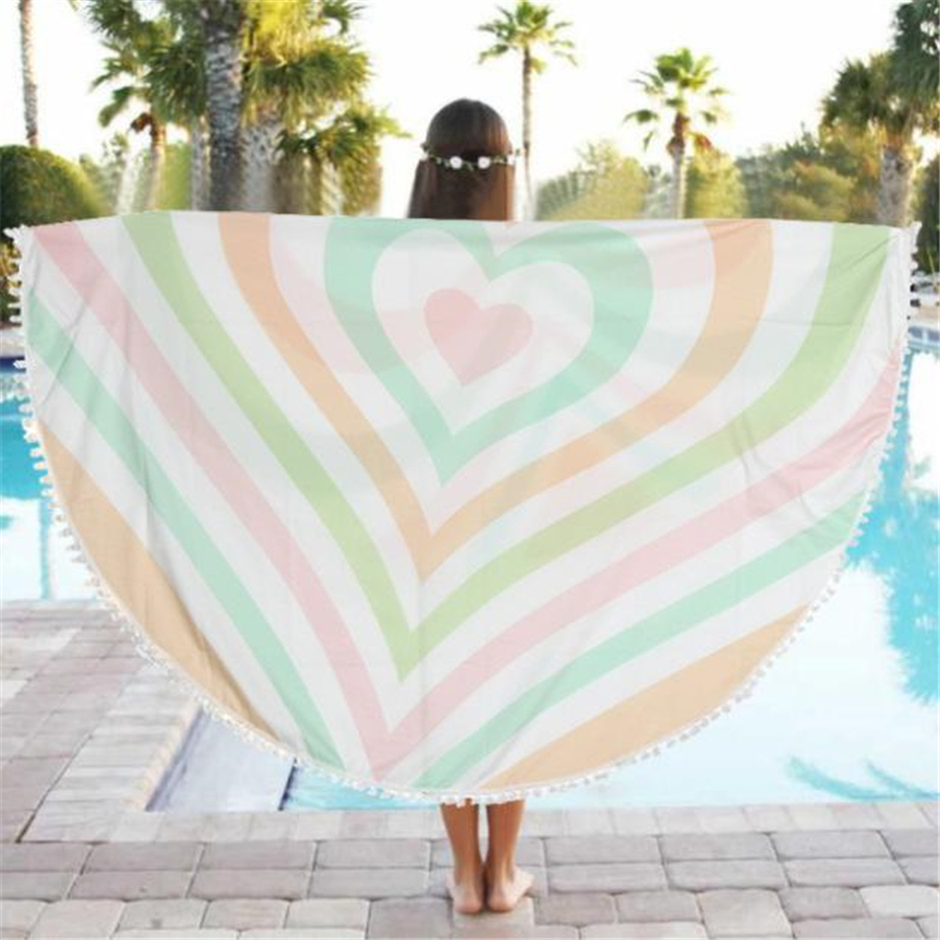 Home Wider Round Beach Pool Home Shower Towel Blanket Table Cloth Yoga Mat Oct1010 Drop Shipping