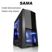 SAMA Game Computer Case A380 Small PC Usb3 0 Ssd Back Line Support Long Graphics Card