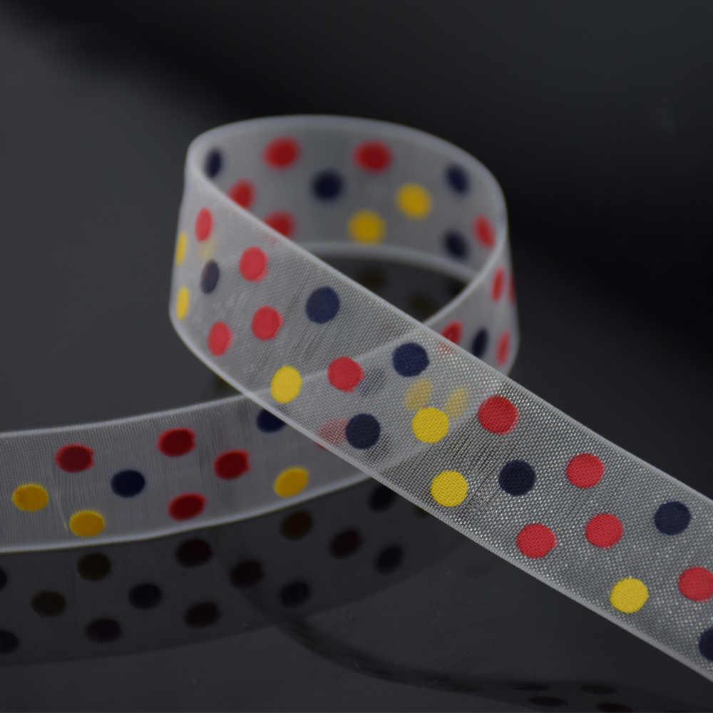 16mm chiều rộng, dots in băng Polyester Grosgrain ribbon, ren satin băng phụ kiện hairbow DIY, gói quà tặng #3454