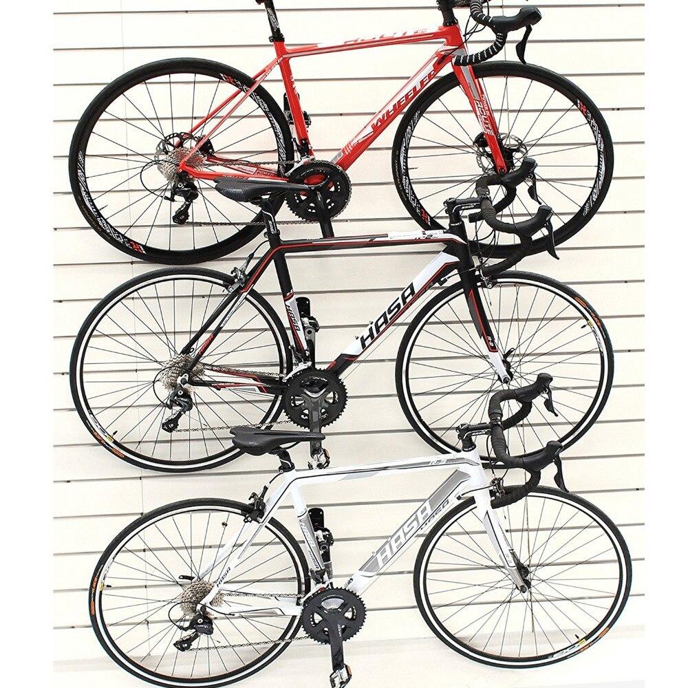 Купить с кэшбэком 100kg Capacity Bike Wall Mount Bicycle Stand Holder Mountain Bike Rack Stands Steel Hanger Hook Storage Bicycle Accessories