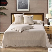 Wangzhi Bed Sheet Set Linen Bedding Wrinkle Fade Stain Resistant Hypoallergenic 3 Pcs 1 Bed Sheet