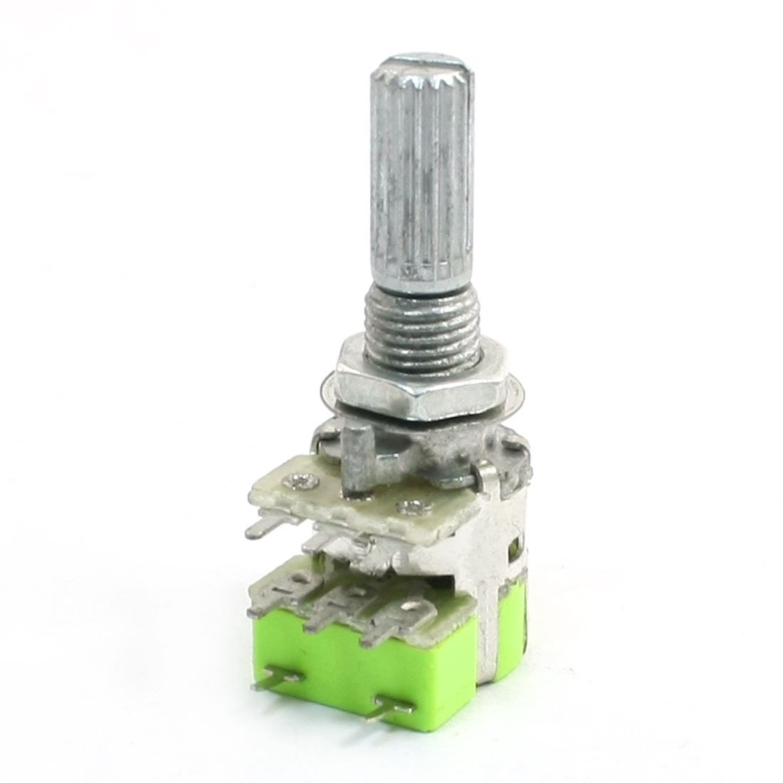 B50K 50K Ohm Dual Linear Taper Volume Control Potentiometer Switch 90118 associated with stepping potentiometer b50k 40 points