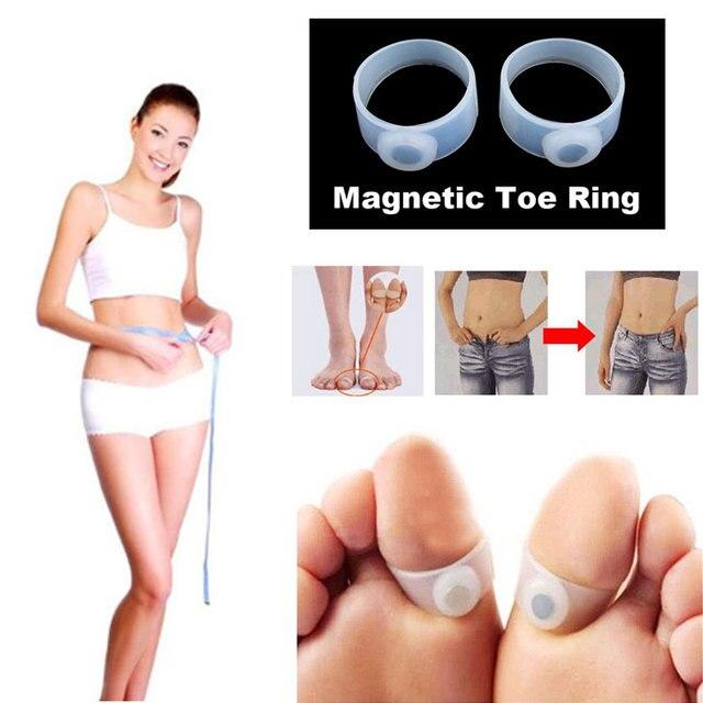 2 pcs Rápido Perder Peso Anéis de Dedo Do Pé Massagem Nos Pés Queimar Gordura Emagrecimento Magnético Manter A Forma Do Produto Do Corpo Shaper Do Corpo Melhor venda
