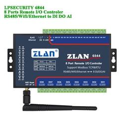 Control remoto IO controlador de 8 puertos RS485/wifi/Ethernet a DI DA AI RTU Modbus TCP LAN entrada Digital módulo de salida analógica de 8 canales
