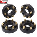 "KSP 4 1.5 Inch 38mm 6x5.5 To 6x5.5 (139.70mm) Hub Centric 2"" Thick Wheel Spacers Adapters With M14x1.5 Studs for Chevy GMC"
