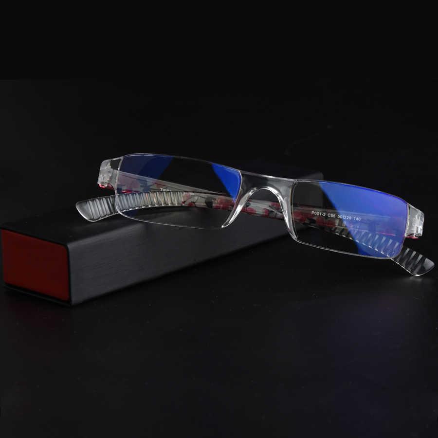 c211964496 ... Guanhao Anti Blue Ray Reading Glasses Women Ultralight Rimless Printing  Eyewear HD Resin Computer Hyperopia Glasses ...