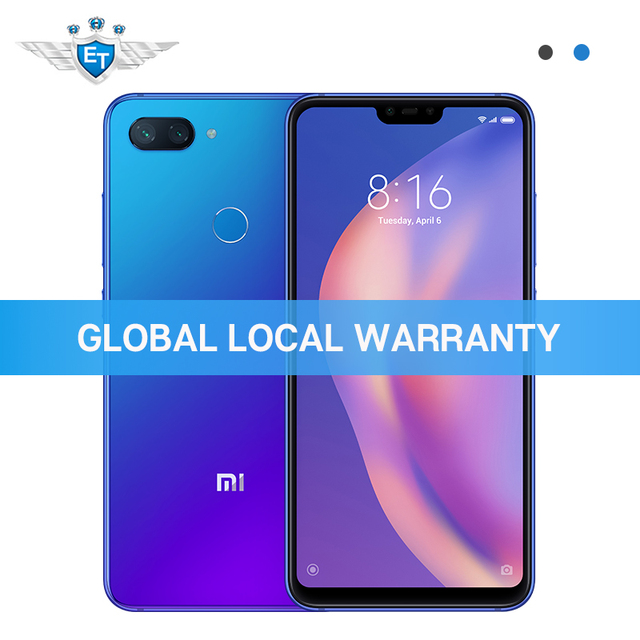 Xiaomi Mi 8 Lite 4GB 64GB Global Version Mobile Phone 6.26'' Full Screen Snapdragon 660 AI 24MP Front Camera Dual Rear Camera