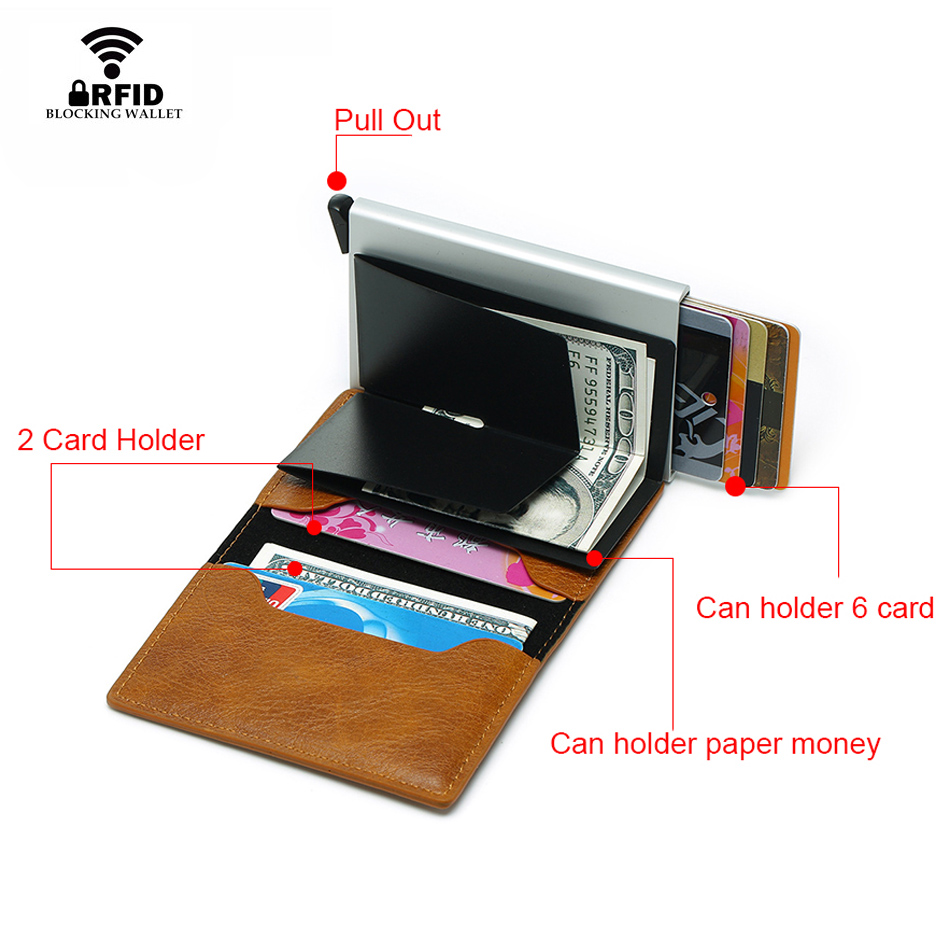 DIENQI Rfid Card Holder Men Wallets Money Bag Male Vintage Black Short Purse Small Leather Slim Wallets Mini Wallets Magic
