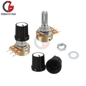 5Pcs Potentiometer Switch 1K 2K 5K 10K 20K 50K 100K 250K 500K 1M Ohm Resistor Linear Switch with Taper Cap Knob for Arduino