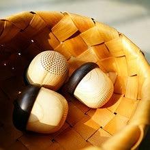 블루투스 귀여운 너트 모양의 나무 스피커 휴대용 세련 된 서브 우퍼 미니 무선 블루투스 너트 스피커 배낭 여행 선물