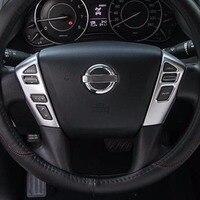 steering wheel cover button model sticker decorative trim for nissan patrol Y62 interior Accessories