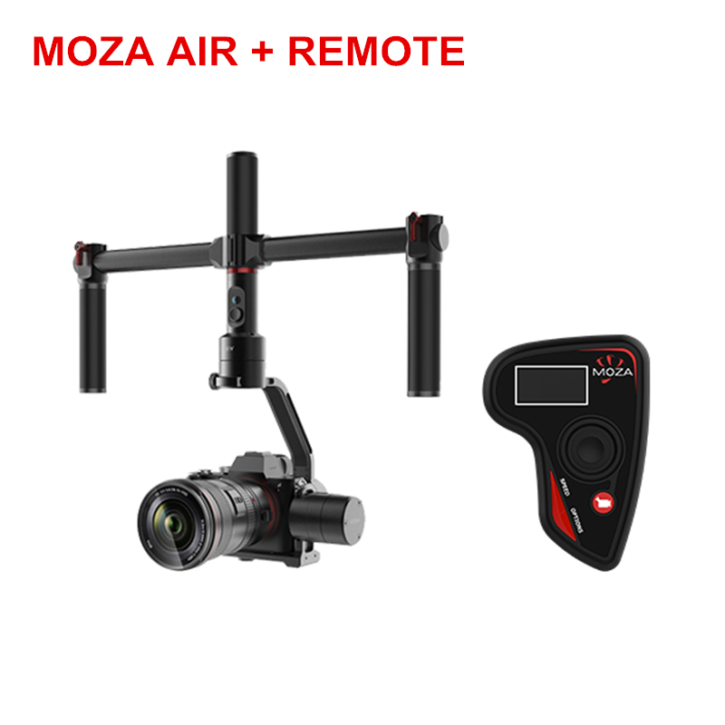 2018 MOZA Air 3 Axis DSLR Gimbal Dual Handheld Stabilizer Motion control Remote Quick release For Canon SONY A7 3.2KG GH5