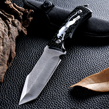 New Brand Cheetah Pattern 440c Blade Camping Straight Knife Fixed Blade Fashion Camping Knife Outdoor Survive Knife Hand Tools