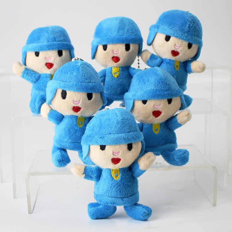 10 cm Menino Pocoyo Pocoyo Plush Toy Inteligente Boneca de Pelúcia Keychain Pingentes Presentes para As Crianças