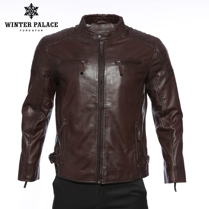 Locomotiva nuovo stile di strada giacca di pelle degli uomini di Alta qualità giacca di pelle Nera giacca di pelle corta Indossare un cappello di marca -abbigliamento