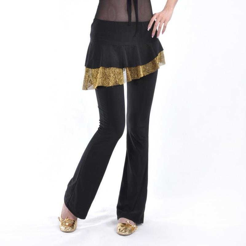 Ladies Latin Dance Costume Long Pants Women Ballroom Dancer Practice Trousers For Rumba/samba/salsa/tango/cha Cha/latin Dance