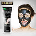 DR.RASHEL Suction Black Mask Nose Blackhead Remover Peel Off Facial Mask Acne Treatment Collagen With Bamboo Charcoal 120 ML