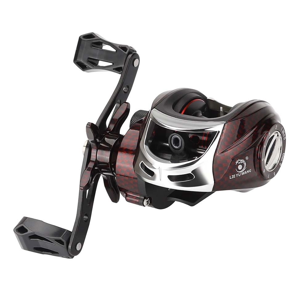 Baitcasting Reel 5.5kg Drag Power Dual Brake System 15+1BB High Speed Ratio 7.2:1 Fishing Reel for Saltwater Fishing Wheel