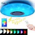 Inteligente led luzes de teto rgb pode ser escurecido 35 w app controle remoto bluetooth música estrela luz quarto diamante brilho lâmpada do teto