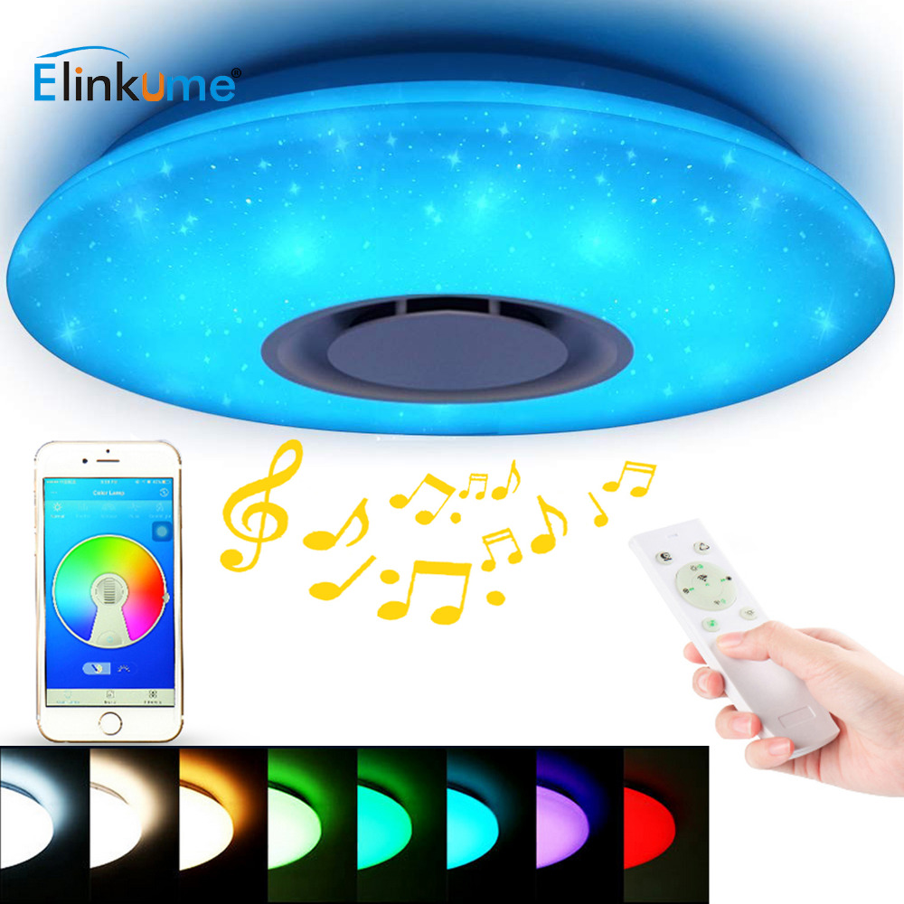 Smart LED Ceiling Lights RGB Dimmable 35W APP Remote Control Bluetooth Music Star Light Bedroom Diamond Shine Ceiling Lamp