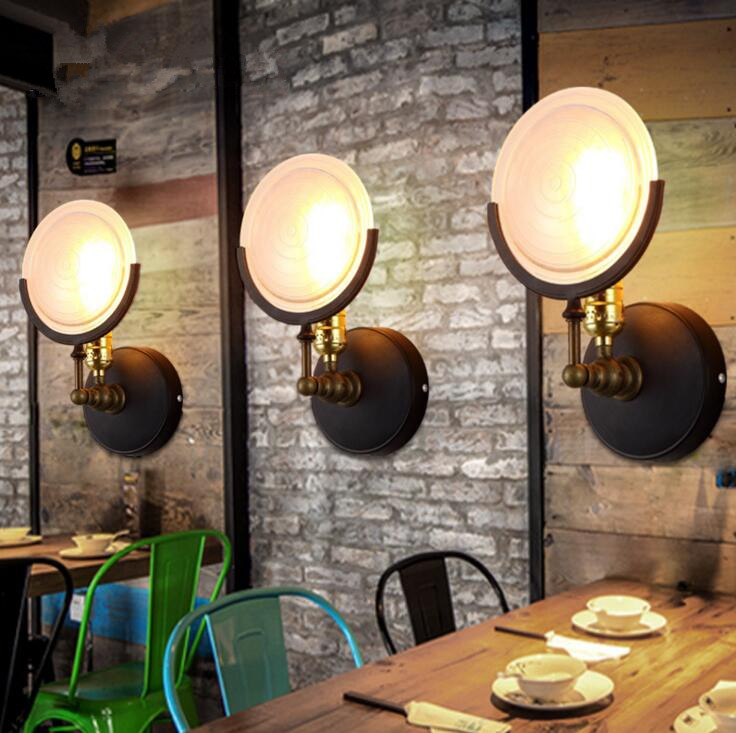 Nordic Industrial Retro Restaurant Aisle Stairs Wall Lamp Creative Personality Art Living Room Bar Iron Wall Lamp Free Shipping
