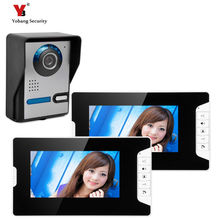 "Yobang Security freeship 7 ""Video Color TWO Monitor The Door Video Phone The Doorbell Intercom Doorbell Night Vision Camera"