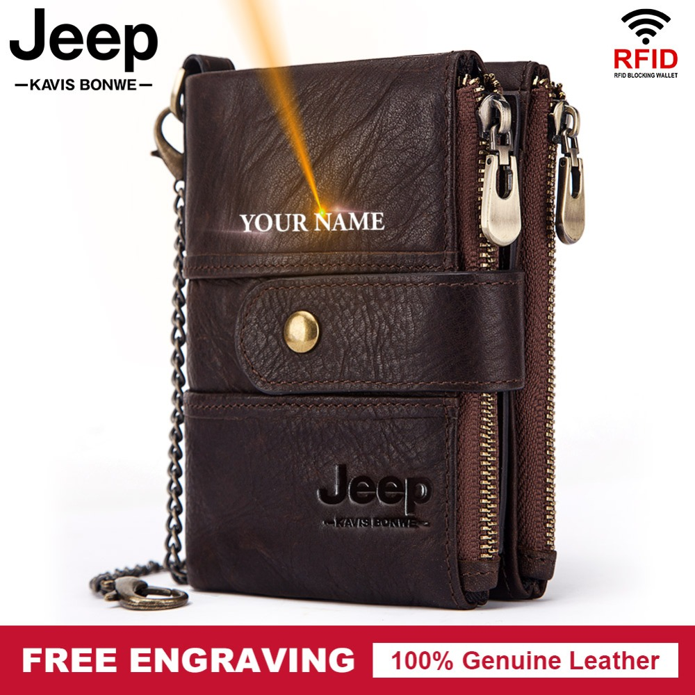 Free Engraving 100% Cow Genuine Leather Men Wallet Coin Male Purse Small Short Card Holder Fashion PORTFOLIO Portomonee Hasp