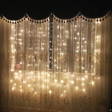 Waterproof Decorative 3x3 Meter 300 LED / 3X1 MTR / 3X1.5MTR Christmas xmas String Fairy Wedding Curtain Light warm white(China)