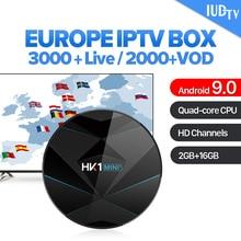 IUDTV 1 Year IPTV Sweden Italian UK Germany Spain HK1 MINI+ Android 9.0 2G+16G BT Dual-Band WIFI Italy Box