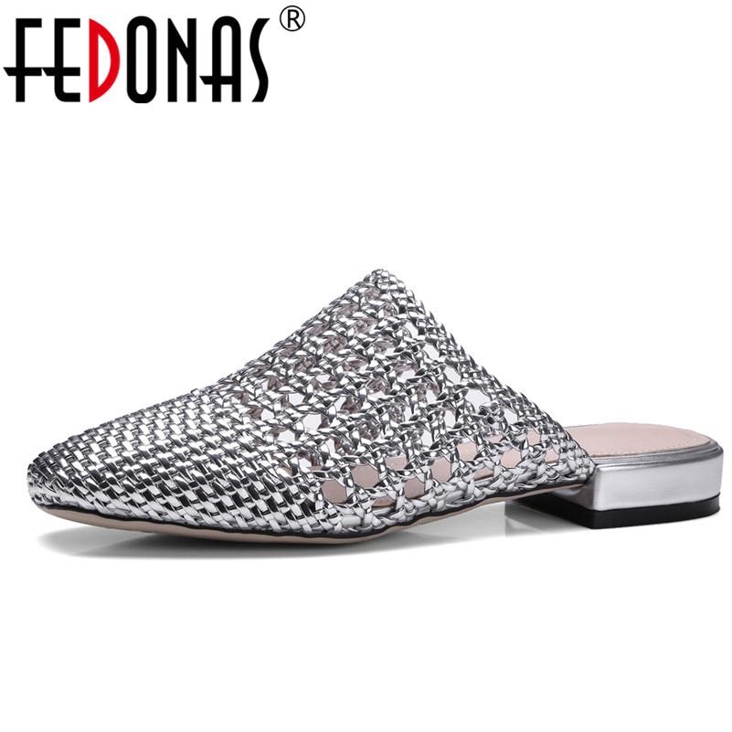 Realistisch Fedonas 2018 Frauen Sandalen Sommer Stil Bling Fashion Cut-outs Schuhe Frau Low Heels Sandale Femal Bequeme Sandalen Hausschuhe Schuhe
