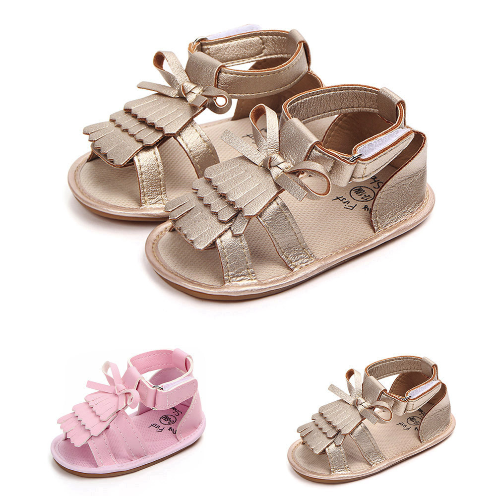 Shoes Crib Tassel Anti-Slip Toddle Infant Baby-Girls Hot Gift Bow Soft Summer High-Quality