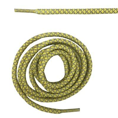 """Круглая веревка 3м Светоотражающие шнурки для ботинок бегуна видимые безопасные шнурки 14 цветов 4"""" /120 см - Цвет: yellow"""