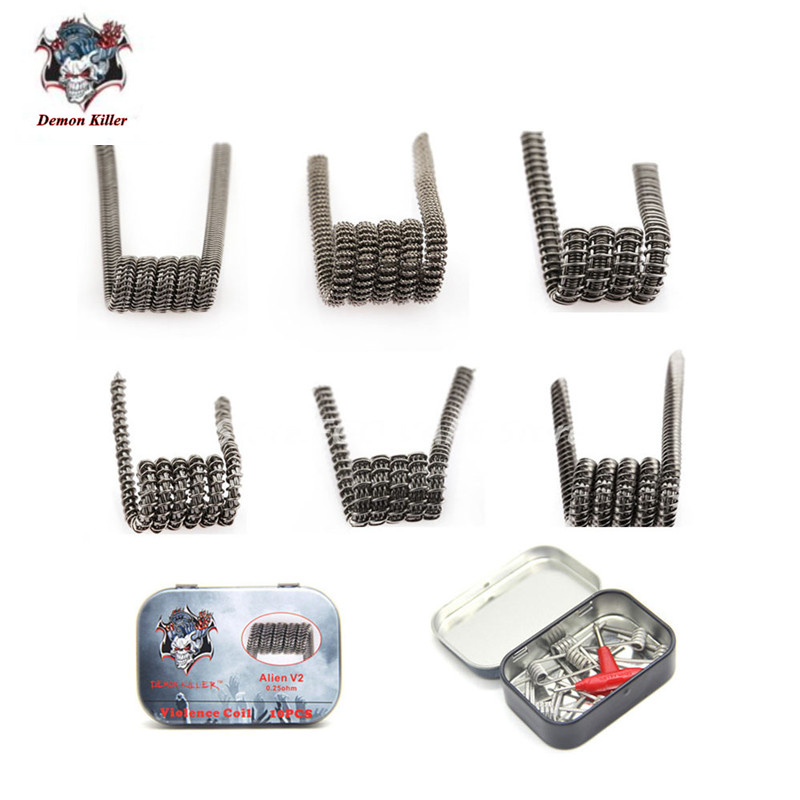 Demon killer Violence Coil Prebuilt Framed Clapton Alien Clapception Coil Spaced Clapton Tsuka Coil Tri-twisted Clapton E Cig