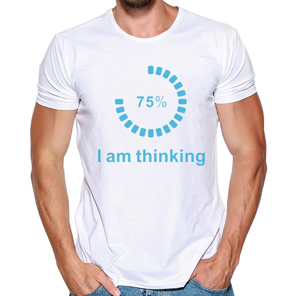 t-shirt men Unisex letters funny t shirt Tees Shirt Short Sleeve white XL d90503 Футболка