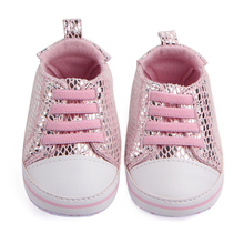 Newborn Baby Crib Shoes Girls Sneakers Infant Lace-up Tenis Soft Sole loafers Toddler Boys Slippers for Little Kids Shower Gifts(China)