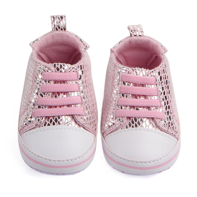 0aa8ddbe7 Newborn Baby Crib Shoes Girls Sneakers Infant Lace-up Tenis Soft Sole  loafers Toddler Boys Slippers for Little Kids Shower Gifts