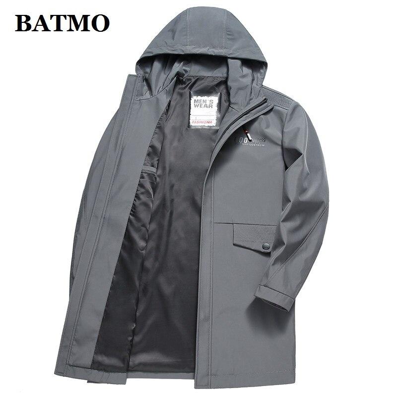 Plus size 5XL 6XL 7XL 8XL softshell dos homens da marca do revestimento do revestimento à prova d' água roupas com capuz preto casaco de primavera ocasional masculino blusão - 4