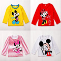 Minne Micky Baby T-Shirts Kids T-shirt Baby Girls Boys Kids Long Sleeve Blouses Tops Shirt Hoodie T-Shirts