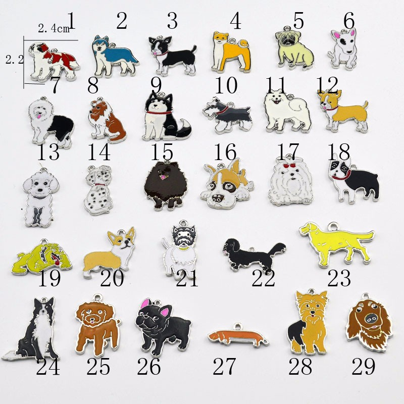 Couple Jewelry Pendant Keychain Dog-Charms Gift Animal New-Fashion Lovely for Women 10pcs/Lot title=