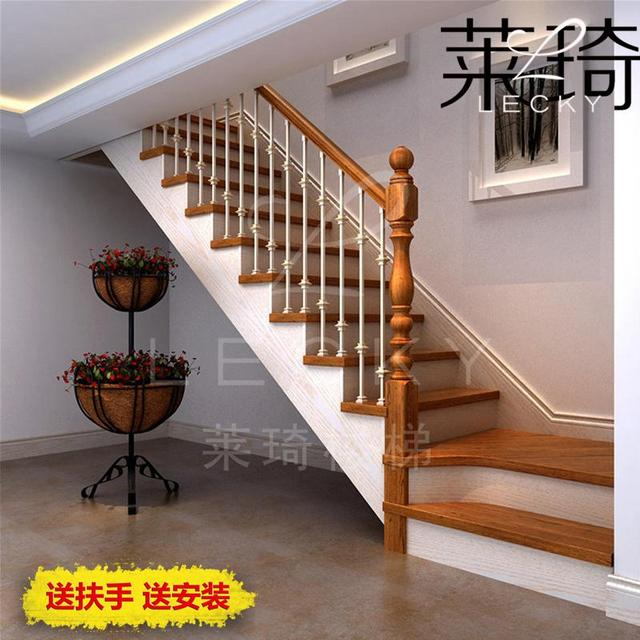 Custom Wrought Iron Staircase Wood Staircase Handrail Nigeria 14 Indoor  Stair Railing