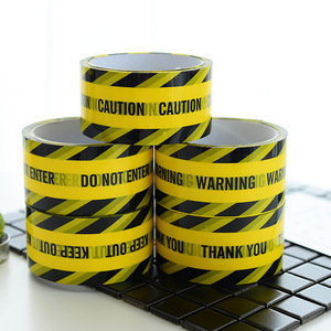 Image 3 - 1 Roll 48mm*25m Opp Warning Tape Danger Caution Barrier Remind Work Safety Adhesive Tapes DIY Sticker For Mall Store School