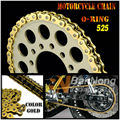 DID525 Motorcycle universal Gold Drive Chain O-Ring 120 links for GSXR600/750 R6/R6S DL1000 ZX-9R ZX-10R Z1000 thickening
