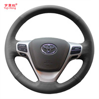 Steering Wheel Cover Case For Toyota Verso EZ Avensis Genuine Leather Car DIY Hand Stitched Steering