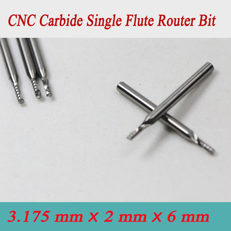5pcs3.175*2.0*6mm Single Flute CNC Milling Tool, Engraving Cutters, Wood Carving Bits, Drill Blade for Cutting MDF, Acrylic  цены