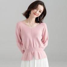 c8dad8ebebf Chemise chauve-souris chandail costume-robe et modèle d hiver coréen facile  à manches longues pull à tricoter vêtement supérieur.