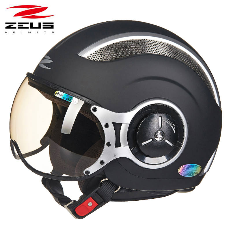 ZEUS 218C 3/4 open face motorcycle helmet summer unisex motorbike racing half face helmets removable washable liner DOT approved цена