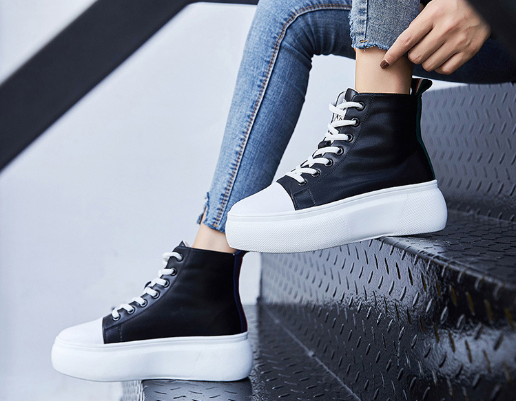 Printemps nouveau noir respirant chaussures de marche décontractées BOR1-BOR8